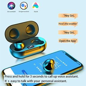 Bluetooth-Headphones-True-Wireless-Earbuds-TWS-Waterproof-50-Earphones-with-Wireless-Charging-Case-Touch-Control-Binaural-HiFi-Stereo-Headset-Mic-Pumping-Bass-Earpiece-Noise-Canceling-for-Running