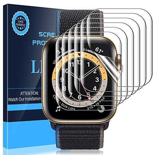 LK Pellicola Protettiva Per Apple Watch 40mm Series 5 /4 , [6 Pezzi][Anti-Graffi Sensitive Touch Senza Bolle Facile Applicazione] HD Clear TPU film Silicone Pellicola
