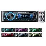 Autoradio Bluetooth Poste Radio Voiture,1Din 2Ports USB Charge Rapide Radio...
