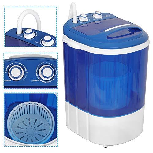 ZENY Portable Mini Laundry Washing Machine Small Semi-Automatic Compact Washer for Apartment,RV,Traveling,Single Translucent Tub