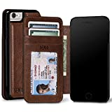 Sena Ultra Thin Wallet Book, Thinnest Book Style Wallet case Solution for The iPhone 6 7 8 and s - Cognac