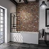 Schulte 4060991056833 Pare-baignoire pivotant verrière, paroi rabattable, écran...