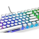 QFERW Clavier Keycaps avec Fantaisie LED Gaming Clavier...