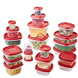 Rubbermaid Easy Find Lids Food Storage Containers, Racer Red, 42 Piece Set (Kitchen)
