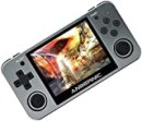 hemistin RG350m Handheld Game Console with 16G Memory, 3.5 Inch IPS Screen 2500MAH Battery Preload 5000 Games Opendingux System Gifts (Chinese and English Version) (Titanium)