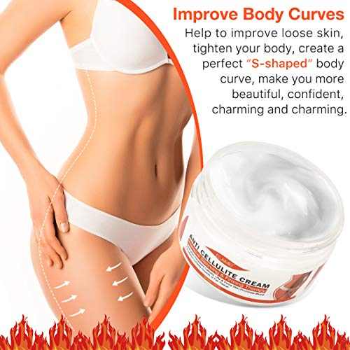 Hot Cream Cellulite Treatment,Slimming firming Cream,Break Down Fat Tissue,Tightens and Moisturizes Skin,Body Fat Burning Best Weight Loss Cream and Slimming Cellulite Tightening cream 7