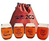 4 Wine Glasses Unbreakable...