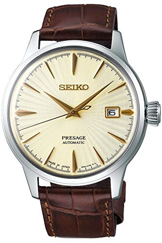 Seiko presage Herren Uhr analog Automatik mit Leder Armband SRPC99J1