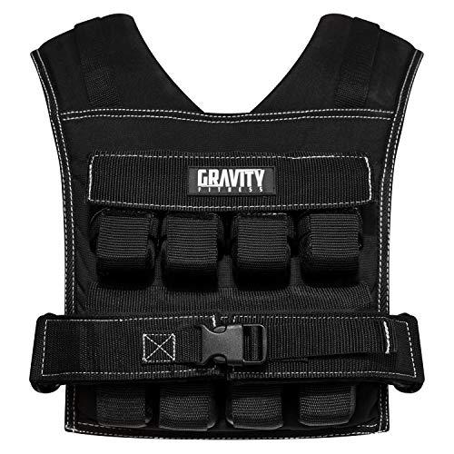 Gravity Fitness Gilet lesté de 20 kg - entièrement réglable. Gymnastique, Crossfit, Musculation, Usage Domestique et Commercial