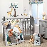 Bedtime Originals Mighty Jungle 3Piece Crib Bedding Set, Multicolor (283003V)