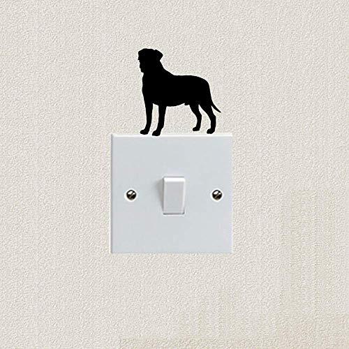 posterguo Lichtschaltersticker 4pcs Dog Cute Cartoon Tierkörper Schalter Aufkleber Dekorieren Sie Ihr Zuhause PVC Art Aufkleber Home Decoration Red