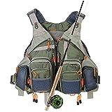 Kylebooker Fishing Vest Mesh for Men and Women(Army Green)