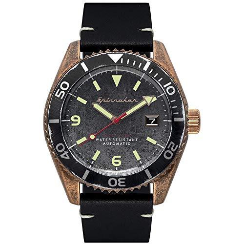 SPINNAKER Wreck Herren-Armbanduhr 43mm Armband Leder Automatik SP-5065-04
