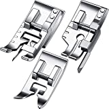 3 Pieces Stitch in Ditch Foot and 1/4 Inch Quilting Patchwork Presser Foot Set Suitable for Household Multi-Function Sewing Machines (Set B)