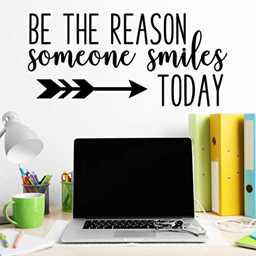 Be The Reason Someone Smiles Today, Classroom Vinyl Wall Decals, School Wall Stickers, Teacher Christmas Gifts, Teacher Quotes Wall Decor, 24