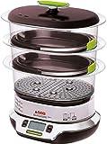 Seb VitaCuisine Compact Cuiseur vapeur, 3 paniers vapeur, Sans BPA, 2 plateaux...