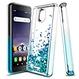 Tmacker Alcatel Insight (Cricket) Case,Alcatel TCL A1(A501DL) Phone Case,TPU Glitter Quicksand Shockproof Protective Phone Cover for Girls Women-Teal