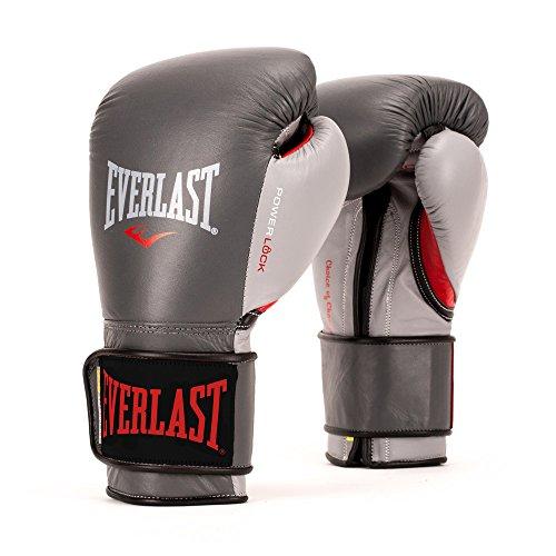 Everlast PowerLock Pro Training Gloves 12oz PowerLock Pro Training Gloves, Grey/Red