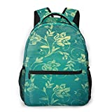 LNLN Mochila Casual para niñas Blue Flower Texture Laptop Backpack School Backpack for Men Women Lightweight Travel Casual Durable Daily Daypack College Student Rucksack 11 5in X 8in X 16in