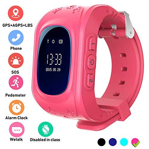 Localizzatore GPS Smartwatch per Bambini, Orologio Telefono con GPS Locator Chat SOS Vocale...