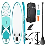 Glymnis Tabla Paddle Surf Hinchable Stand Up Paddling Board Set 320x80x15 cm con Surf de Remo de...