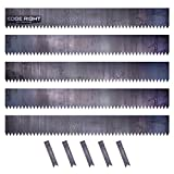 Edge Right - Hammer-in Landscape Edging - 48 inch Strips - 14-Gauge Cor-Ten Steel - 6 inch Depth (5 Pack)