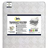 Serta Tranquility Eco Firm Innerspring Crib and Toddler Mattress  Waterproof   GREENGUARD Gold Certified   Trusted 50 Year Warranty   Made in The USA