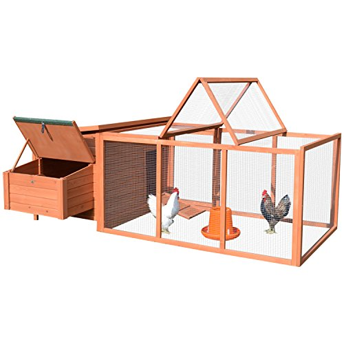 "PawHut 87"" Deluxe Wooden Backyard Chicken Coop Nesting Box"