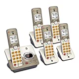 AT&T EL52513 5-Handset Expandable Cordless Phone with Answering System & XL Backlit Keys