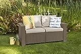 Gartenlounge Sofa California 2-Sitzer cappuccino/panama sand inkl Sitz- und Rückenkissen - 3
