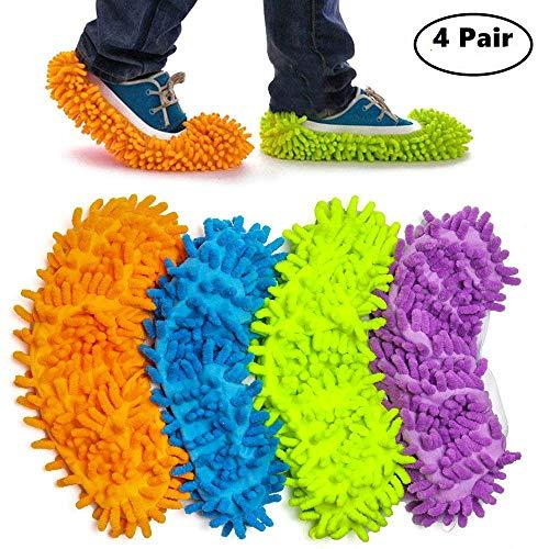Haichen 4 paio 24 cm * 12 cm multifunzione in microfibra Dust mop pantofole scarpe per pulizia della...
