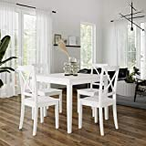 Dorel Living Sunnybrook 5-Piece Dining Set, White