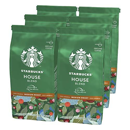 Starbucks House Blend Caffè Macinato Dalla Tostatura Media 6 Sacchetti da 200 g