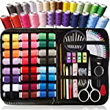 ARTIKA Sewing Kit for Adults and Kids - Beginner Friendly Set w/ Multicolor Thread, Needles, Scissors, Thimble & Clips