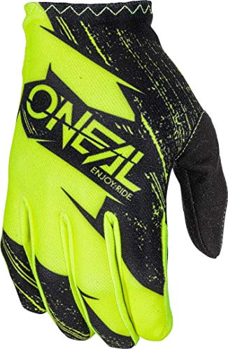 0388R-115 - Oneal Matrix 2018 Burnout Youth - Guanti da Motocross, Taglia M, Colore: Nero