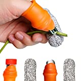 BEADNOVA Finger Knife Gardening Silicone Thumb Knife for Gardeners Plants Vegetables and Trimming (2 Pairs, Small Size)