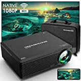 Proyector, SMAMOVING Full HD 1920*1080P Nativo Soporta 4K Proyector WiFi,Proyector Portátil,Compatible con Smartphone ,PC ,TV Stick ,HDMI,USB,PS4 / 5