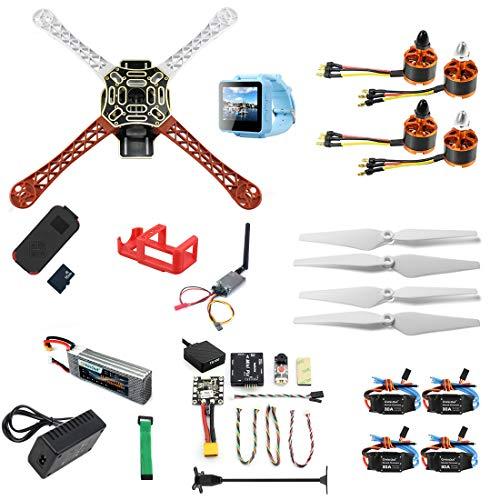 QWinOut DIY RC Drone Kit F450-V2 FPV Quadcopter with MINI PIX MINI GPS Q6 4K Wide Angle Action...