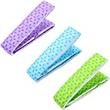 3 Pieces Baking Even Strip, Cake Pan Strips, Absorbent Thick Cake Strips for Home Kitchen Baking, Baking Tray Protection Strap (Green, Blue and Purple)
