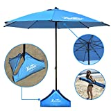 EasyGoProducts Xbrellas -High Wind Resistant Beach Umbrella – Sand Base - 7.5' Round – Patent Pending