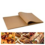 100 Pcs Natural Color Baking Paper Barbecue Silicone Oil Paper Non-Stick Bakeware Parchment Paper Sheets for Air Fryer, Cooking, Baking Cookies 7.9x11.8 Inch
