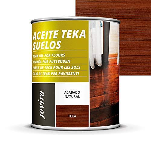 Olio TEKA per pavimento, terrazze, pavimentazione, mobili da giardino, protezione, restaurazione e cura del legno teak in ambienti esterni (750 ml)