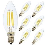 Lot de 6 Ampoule Filament LED E14 4W Dimmable Ampoule Edison Retro C35...