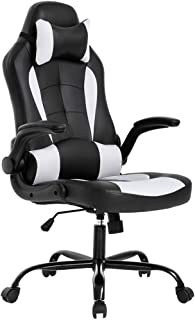 BestOffice PC Gaming Chair Ergonomic Office Chair Desk Chair with Lumbar Support Flip Up..