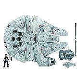 Figura y vehículo de Star Wars Mission Fleet Han Solo Millennium Falcon a escala de 2,5 pulgadas,...