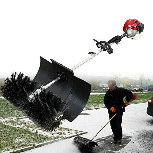 1.7kW/2.3HP Benzin Motorbesen Kehrmaschine Schneefräse Handheld Schneeräumer