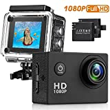 Action Camera , 96FT Waterproof Sport Camera Full HD 1080P 2.0 Inch LCD Display 140 Degree Wide Angle Lens Sport Recorder Car Camera with Outdoor Accessories