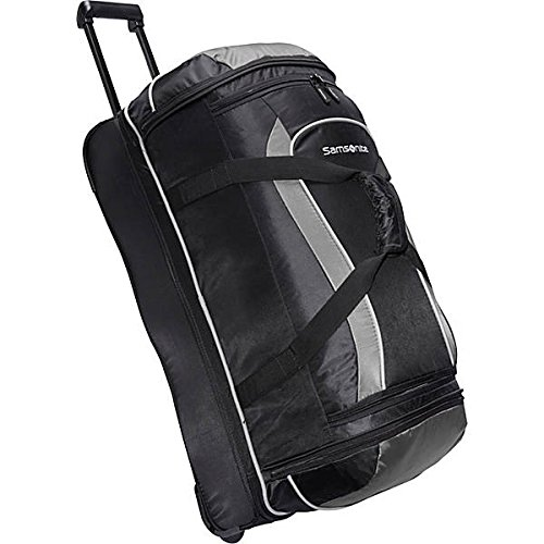Samsonite Andante Wheeled Rolling Duffel Bag, Black/Grey,...