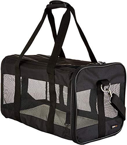 Amazon Basics Soft-Sided Mesh Pet Travel Carrier,...