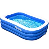 Homech Family Inflatable Swimming Pool, 118' X 72' X 20' Full-Sized Inflatable Lounge Pool for Kiddie, Kids, Adult, Infant, Toddler for Ages 3+,Outdoor, Garden, Backyard, Summer Water Party